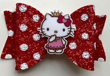 5078bb1cb Hello Kitty Hair Bow - Beautiful Red with White Polka Bow - 3.5