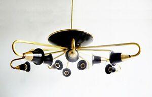 Brass Sputnik attributed to Stilnovo, circa 1955 spider