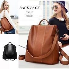 Women Leather Backpack Waterproof Anti-Theft Rucksack School Shoulder Bag Large