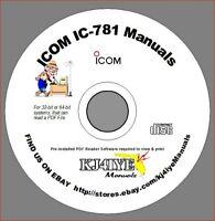 Icom IC-781 CD SERVICE and OWNER'S MANUALS Radio Book KJ4IYE CD MANUAL ONLY