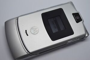 Motorola V3 - Silver (Orange) Mobile Phone (GRADE A)