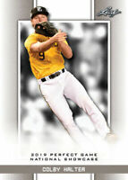 """COLBY HALTER 2019 """"1ST EVER PRINTED"""" LEAF PERFECT GAME NIKE ROOKIE CARD #83!"""