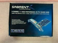 Sabrent 8 Channel 7.1 High Performance 3D PCI Sound Card