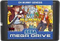 Oh Mummy Genesis 16 Bit Game Card For Sega Genesis / Mega Drive System