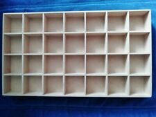 WOODEN 28 COMPARTMENT BOX TRAY