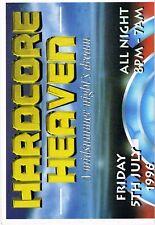 HARDCORE HEAVEN Rave Flyer Flyers 5/7/96 A3 Stevenage Ice Arena Art by PEZ