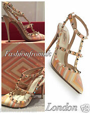 valentino Strappy, Ankle Straps 100% Leather Heels for Women
