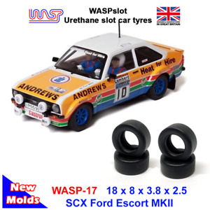 WASP 17 - Urethane Slot Car Tyres - SCX Ford Escort MkII