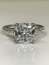 Custom Listing for weberpin:  Cushion Cut Solitaire Engagement Ring. 2.50 ctw.