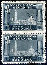 Corpo Polacco 1946 n. 7 ardesia - coppia - usata - varietà (m1451)