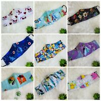 Disney, Snoopy, Pokemon Face Masks, Adult / Teens, 65+ designs, Made in USA NEW