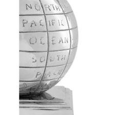 Churchill S/2 Globe Bookends Nickel Fin