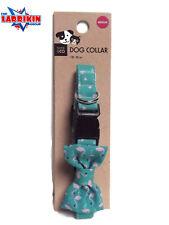 Heavy Duty Quality Adjustable Webbing Dog Collar With Bow Tie Medium Size