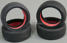 RC Car 1/10 Tires RACING Sticky SLICKS  BLACK  -Set Of 4-