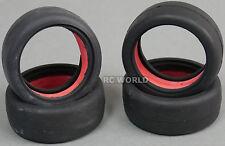 RC Car 1/10 Tires RACING Sticky SLICKS  BLACK  -Set Of 4-
