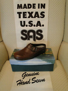 RETIREMENT SALE-NEW SAS CLOG/TEAK  W/BOX