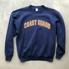 USA Made VTG 80s/90s Navy Blue Coast Guard Crewneck Sweat Shirt M