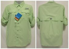 Columbia Sportswear Boy's Bahama Long Sleeve Shirt (Children) LARGE 14/16 Green