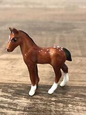 Custom Glazed Hagen Renaker Mini Appaloosa Horse Foal