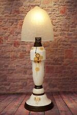 Extraordinary Art Déco Table Lamp Very Large Majolica Ceramic Art Nouveau