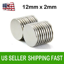 Lot 10 100 12mm X 2mm Neodymium Disc Super Strong Rare Earth N35 Fridge Magnets