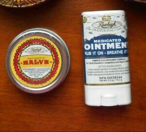 Rawleigh Antiseptic Salve 0.96 oz. tin  &  Medicated Ointment 0.5 oz. stick