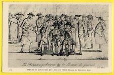 cpa Gravure Eau Forte PARIS en 1796 Réunion Politique La LECTURE du JOURNAL