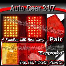 Caravane 80 DEL Stop Tail Indicator Réflecteur Rear Rectangular Combination Fluocompactes