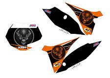 KIT GRAFICHE KTM SX SX F EXC 08 011 TABELLE CROSS O ENDURO PERSONALIZZATE NERO