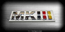 1- NEW VW MK3 MKIII chrome badge emblem gti jetta gli tdi golf german flag MKIII