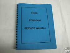 Ford Fordson Tractor Service Manual