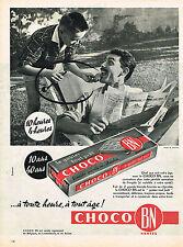 PUBLICITE ADVERTISING  1960   CHOCO BN   biscuit au chocolat à tout age