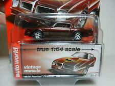 2016 AUTO WORLD 1:64 *PREMIUM 5D* BROWN 1976 Pontiac Firebird T/A *NIP!*