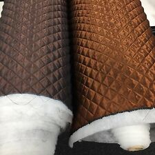 QUILTED FABRIC VISCOSE Lining 35MM Box TWO TONE EFFECT Dress Upholstery Soft