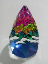 Swarovski Crystal Multicolor Pyramid Prism 3 1/2 in Paperweight Figurine