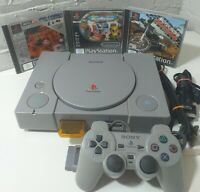 SONY PS1 PLAYSTATION 1 SCPH-7502 CONSOLE AND GAMES BUNDLE - FULL SET UP SCART