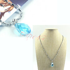 Cafiona Cheap Blue Rhinestone Pendant Necklace Sword Art Online Asuna Cosplay