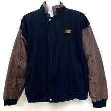 Vintage New Balance Mens Baseball Coat Mens Jacket Distressed Leather Wool XL