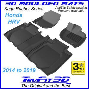 Fits Honda HRV H-RV 2014 to 2021 Genuine 3D BLACK Rubber Car Floor Mats F&R