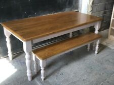 New Solid Pine 6FT x 3FT Farmhouse Table & Bench