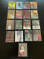 Antoine Walker 17 Card Lot 1996-97 Fleer Metal RC + More Boston Celtics Box1