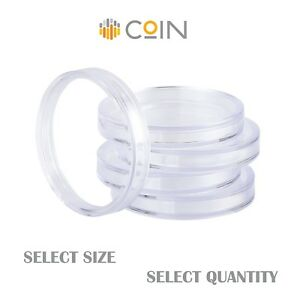 Coin Capsules   Sizes - 27mm, 28mm, 30mm   Quantity - 10, 20, 30, 50, 90 Pieces