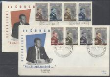 CONGO BELGE FDC 14-14a - DAG HAMMARSKJOLD - 1962 LUXE