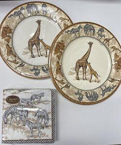 Serengeti Safari Party Plates & 3-Ply Napkins Bundle By Caspari