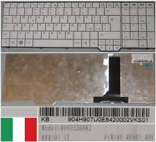Clavier Qwerty Italien AMILO Pi3625 Li3710 V080330AK2 90.4H907.U0E Blanc