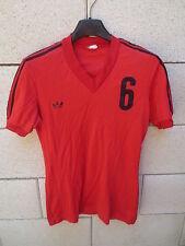 Maillot ADIDAS vintage porté n°6 rouge nylon trikot shirt jersey VENTEX maglia S