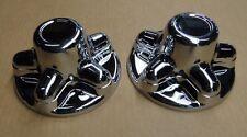 (2) RV/Camper/Trailer  Chrome Plastic 5 Lug and Hub Wheel Covers, 2 PACK