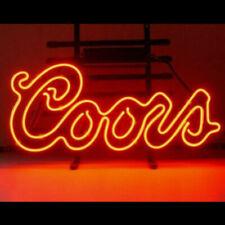"New Coors Red Logo Neon Light Sign 20""x16"" Beer Gift Lamp Bar Artwork"