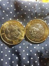 MEXICO BU 20 Pesos 2016 BIMETALLIC Plan Marina Just Released,10 Coins Lot
