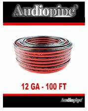 12 GA Gauge Red Black Stranded 2 Conductor Speaker Wire Car Home Audio 100 feet
